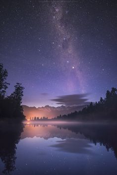 Big One ... the stars, mountains and waters of a New Zealand night | by Coolbiere. A. on 500px