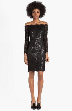 Emilio Pucci Lace & Lamé Off Shoulder Dress | Nordstrom