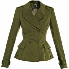 MCQ ALEXANDER MCQUEEN Double-breasted jacket (20.045 RUB) ❤ liked on Polyvore featuring outerwear, jackets, coats, blazer, green, green jacket, buckle jackets, blazer jacket, double breasted blazer and long sleeve jacket
