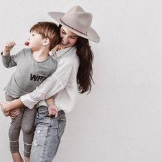 Fall Fashion, minimal style ideas, brixton hat, distressed denim, kids fashion ideas