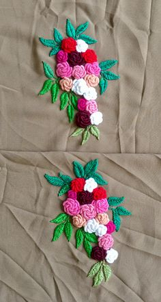 how to do french knots embroidery Aami-the dream couture's media analytics. Bullion Embroidery, French Knot Embroidery, Floral Embroidery Patterns, Hand Embroidery Videos, Hand Embroidery Flowers, Hand Work Embroidery, Flower Embroidery Designs, Hand Embroidery Stitches, Silk Ribbon Embroidery