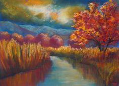 soft pastels,landscape,stimmung