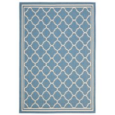 Indoor/outdoor rug with a quatrefoil trellis motif. Made in Turkey.   Product: RugConstruction Material: Polypro...