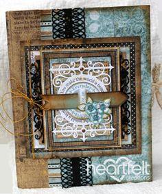 Heartfelt Creations | Everyday Hero Teal And Brown Flip Fold Album