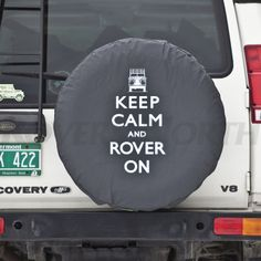 KEEP CALM, ROVER ON, ROVER, TIRE COVER - Rovers North - Classic Land Rover Parts