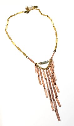 Copper Waterfall Necklace – TOODLEBUNNY