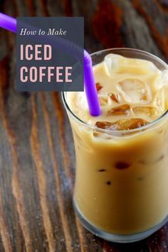 Easy instructions for how to make delicious, perfect iced coffee at home. Iced Coffee At Home, Iced Coffee Drinks, Great Coffee, Hot Coffee, Different Kinds Of Coffee, How To Make Ice Coffee, Coffee Store, Chocolate Shavings, Coffee Recipes