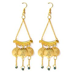 Vintage blue ear rings (22k gold plated) - Tadpole Store - India's Only Exclusive Online Shopping Destination for Authentic Designer Products