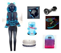 """""""Cat day"""" by jmcwilliams2003 ❤ liked on Polyvore featuring Moschino, JanSport, River Island, women's clothing, women's fashion, women, female, woman, misses and juniors"""