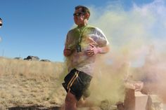 Principal Don Knapp participates in a color run Sept. 25 at Pikes Peak School of Expeditionary Learning. The PPSEL Parent Teacher Organization sponsored the run as their big fundraiser for the year. There was an entrance fee, and donors pledged for the students who participated. Principal Don Knapp said the run incorporated PPSEL's holistic program, keeping students active and incorporating physical education as a life skill.