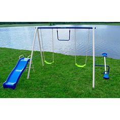 Playground-Set-Swingset-Outdoor-Swing-Slide-Backyard-Playset-For-Kids-Fun-Play