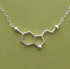 serotonin necklace. key to happiness :)