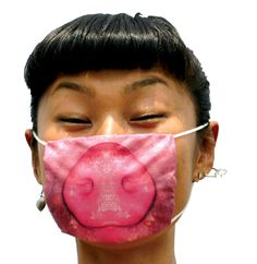 pig mask | transforming part of the face, animals and human snouts to zippers, cheerful, funny.