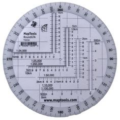MapTools Round Military Coordinate Scale and Protractor Survival Guide, Survival Skills, Metric Conversion Chart, Compass Navigation, Writing Correction, Engineering Tools, Slide Rule, Math Formulas, Protractor