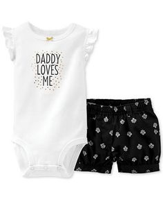 Carter's Baby Girls 2-Piece Bodysuit & Shorts Set