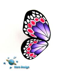 Butterfly cane by Marcia of Mars Designs #Polymer #Clay #Canespoly