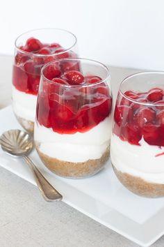 No Bake Cherry Cheesecake {gluten free and dairy free}