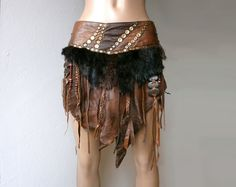 Dream Warriors brown leather skirt / loincloth by DreamWarriors
