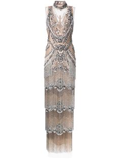 Marchesa beaded gown