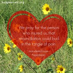 How do we deal with the special kind of pain that comes from hurt within the church body? @Mary DeMuth  #openheart Praying for Our hollybarrett.com