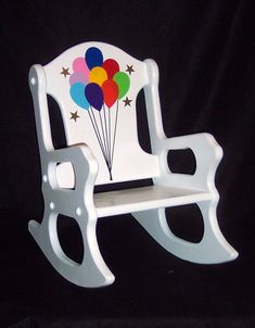 Childu0027s Rocking Chair Balloons Toddler By Weaverwood On Etsy