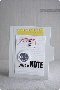 At the Office, Friend Request, Typewriter Text Background, 3x4 Notepad Die-namics, Office Supplies Die-namics, Stitched Circle STAX Die-namics - Keisha Campbell #mftstamps