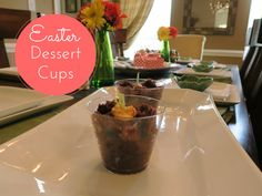 Mrs. Erica's Running Journey: Chocolate Cake Pudding Easter Cups