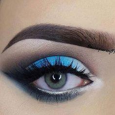 Dreamy blue look by @makeupsarang93  Tools: #MakeupAddictionBrushes Ultimate Eye Set  #MakeupAddictionCosmetics