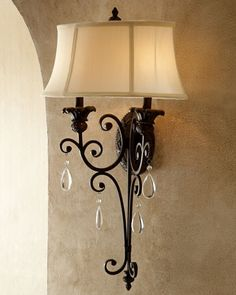 """Bronze Victorian Sconce at Horchow. (16""""W x 9""""D x 30""""T)"""