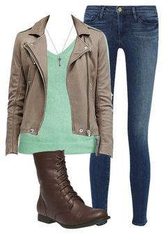 """Cosette Rosin"" by aleaboo ❤ liked on Polyvore featuring Frame Denim, Old Navy, Nadri and Wet Seal"