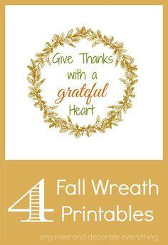 Fall Wreath Printables