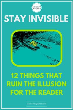 Once the author becomes visible, the enchantment of the story dissolves. These 12 things can ruin the illusion for the reader. Become an invisible writer. Writer Tips, Book Writing Tips, Editing Writing, Writing Process, Fiction Writing, Writing Resources, Writing Help, Writing Skills, Writer Workshop