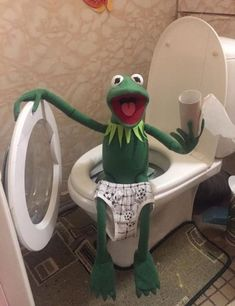 Kermit The Frog Meme, Funny Kermit Memes, Kermit And Miss Piggy, Cute Memes, Frog Pictures, Funny Pictures, Caco E Miss Piggy, Sapo Frog, Sapo Kermit