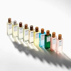 LOEWE Perfumes' eight iconic fragrance families are now united by a single flask design in a kaleidoscope of colours. Available now, exclusively on perfumesloewe.com #LOEWEperfumes Miu Miu 香水, Dieter Rams Design, Essie Nail Polish Colors, Homemade Gifts For Mom, Beautiful Gifts For Her, Pots And Pans Sets, Diy Fall Wreath, Perfume, Still Photography