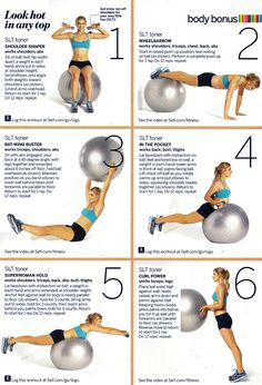 6-step ball workout for defined arms and shoulders