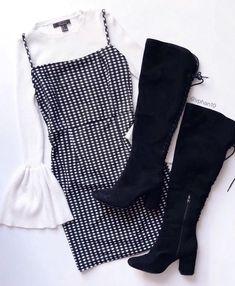 Casual Smart wear for trendy girls Teen Fashion Outfits, Mode Outfits, Look Fashion, Trendy Outfits, Korean Fashion, Autumn Fashion, Fashion Beauty, Dress Fashion, Fashion 90s