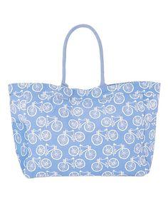 Blue Beach Cruiser Carryall Bag