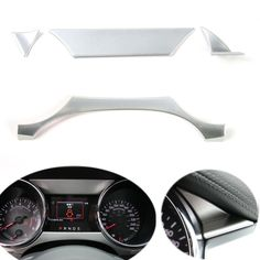 BBQ@FUKA 4pcs ABS Dashboard Instrument Box Cover Trim Frame Fit For Ford Mustang 2015 2016 Car Accessory