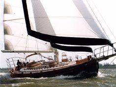 Hans Christian yacht, 56-feet length overall.