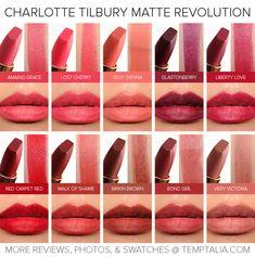 Sneak Peek: Charlotte Tilbury Matte Revolution Lipsticks Photos & Swatches