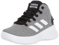 half off 07d32 7a508 adidas NEO Boys  CF Refresh Mid K Sneaker,Core Black White Core Black,4.5 M  US Little Kid