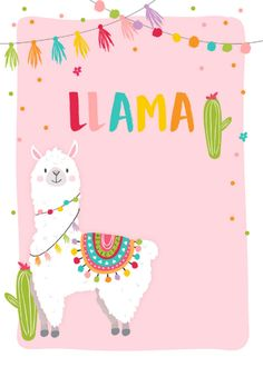 Llama Birthday, Birthday Fun, 1st Birthday Parties, Wallpaper Iphone Cute, Cute Wallpapers, Natur Wallpaper, Cactus, Cute Llama, Llama Alpaca