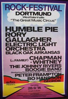 Humble Pie, Rory Gallagher, ELO, Black Oak Arkansas etc.