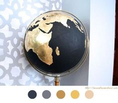 DIY your photo charms, compatible with Pandora bracelets. Make your gifts special. Make your life special! Globe Terrestre - DIY Déco - Customiser Globe - Terre - Monde - World - Tutoriel - Tuto Map Crafts, Diy And Crafts, Painted Globe, Pam Pam, Globe Art, Creation Deco, Idee Diy, Diy Décoration, Pinterest Diy