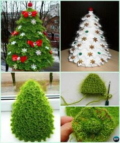 3D Crochet Christmas Tree Free Pattern Sparkling