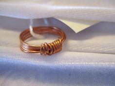Use coupon code: PIN10 for 10% off! Beautiful copper wrap wire #ring, also available in many other types of wire to suit your taste.  WIRE: Wire you're interested in not listed, just let me know. If you'd like... #jewelry