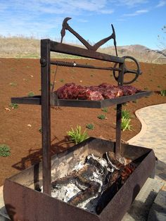 BBQ Grill - This is on my wish list. Pit Bbq, Bbq Grill, Barbecue Smoker, Outdoor Oven, Outdoor Cooking, Smoke Grill, Grill Design, Patio Heater, Garden Bridge