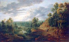 ルーカス・ファン・ウーデン (Lucas van Uden) 「Landscape with Hunters」