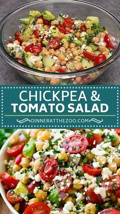Healthy Salad Recipes, Vegetarian Recipes, Healthy Snacks, Healthy Eating, Cooking Recipes, Baked Veggie Recipes, Healthy Broccoli Salad, Chickpea Salad Recipes, Cucumber Recipes