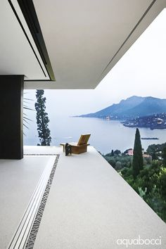 Stunning view from the balcony of a modern villa in france, using the aquabocci zero threshold drain with Ribbon style drain lid. Art And Architecture, Architecture Details, Exterior Design, Interior And Exterior, Villas, Luxury Homes, Beautiful Homes, Outdoor Living, Luxury Houses